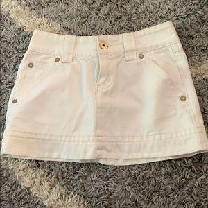 Old Navy white jean skirt size 1